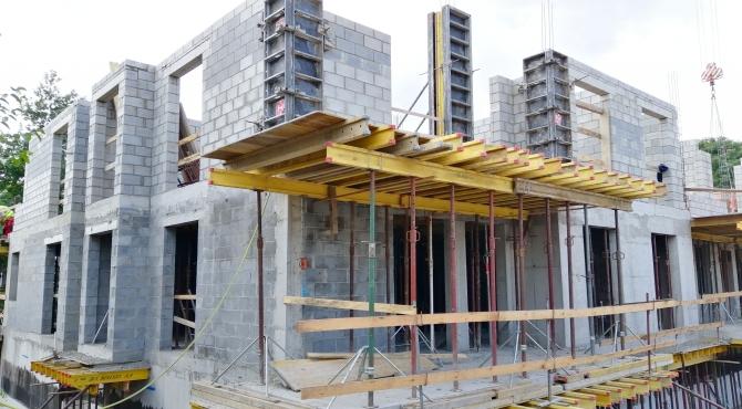 Postęp prac budowlanych - Sierpień 2019