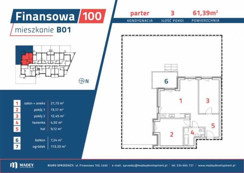 Apartament nr. B01