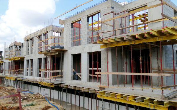 Postęp budowy inwestycji Finansowa 100